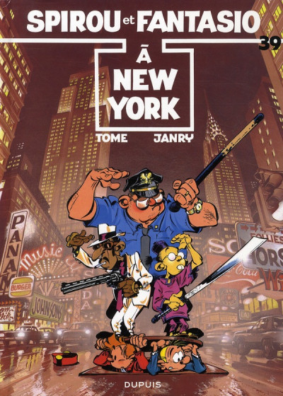 Couverture spirou et fantasio tome 39 - à new york