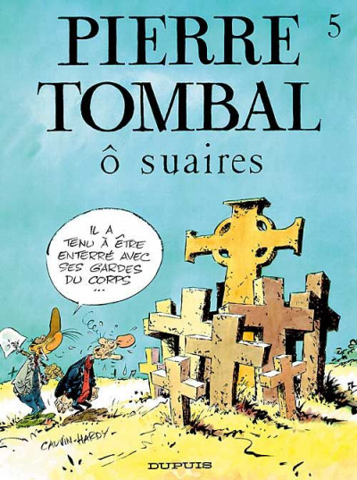 Couverture pierre tombal tome 5 - o suaires