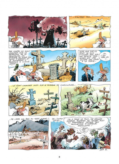 Page 8 pierre tombal tome 5 - o suaires