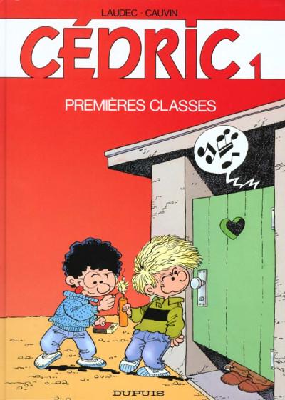 Couverture cédric tome 1 - premières classes