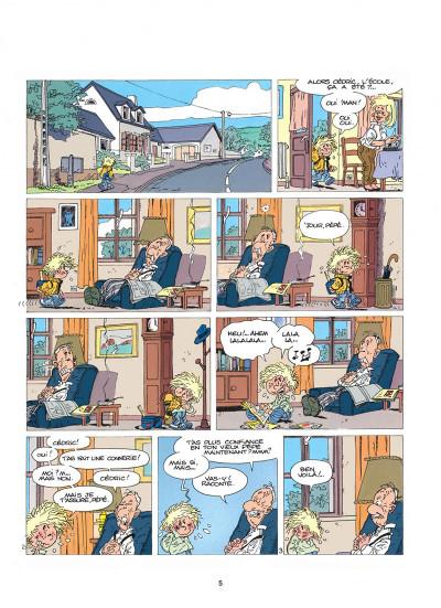 Page 5 cédric tome 1 - premières classes