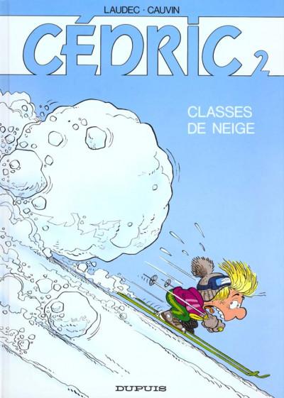 Couverture cédric tome 2 - classes de neige