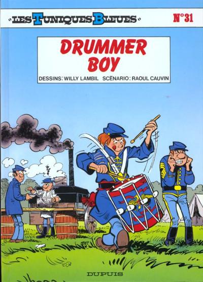Couverture les tuniques bleues tome 31 - drummer boy