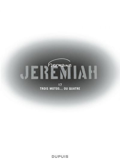 Page 1 Jeremiah tome 17 - trois motos... ou quatre