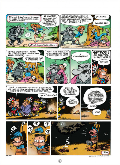 Page 8 le petit spirou tome 5 - merci qui