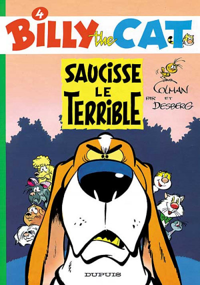 Couverture billy the cat tome 4 - saucisse le terrible