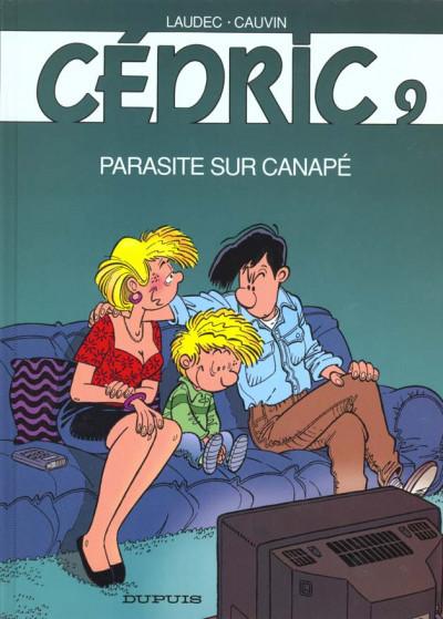 Couverture cédric tome 9 - parasite sur canapé