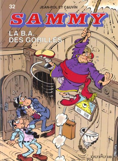 Couverture sammy tome 32 - la b.a. des gorilles