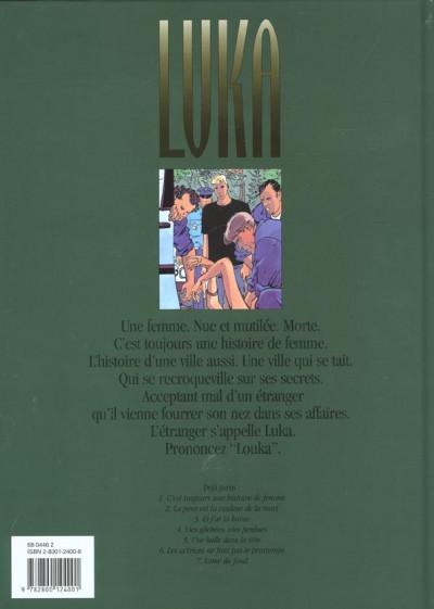 Dos luka tome 1 - c'est toujours une histoire de femme