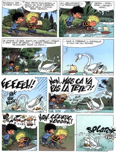 Page 1 cédric tome 11 - cygne d'étang