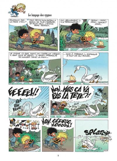 Page 3 cédric tome 11 - cygne d'étang