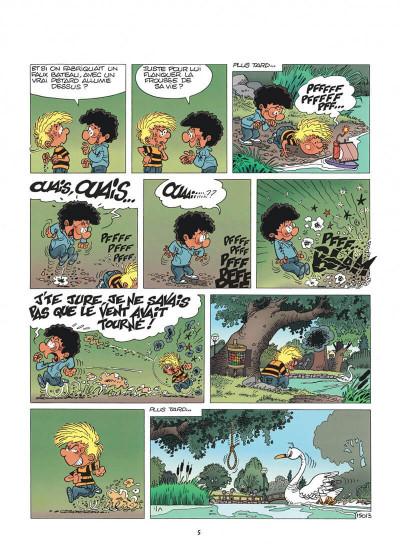 Page 5 cédric tome 11 - cygne d'étang