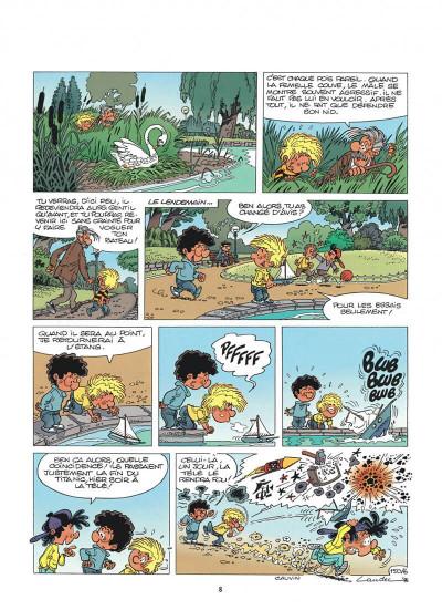 Page 8 cédric tome 11 - cygne d'étang