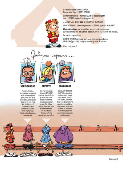 Page 2 le petit spirou tome 7 - demande à ton père