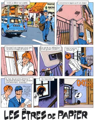 Page 1 jérôme k. jérôme bloche tome 2 - les êtres de papier