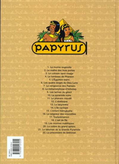 Dos papyrus tome 5 - l'égyptien blanc