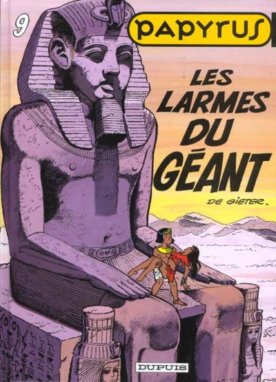 Couverture papyrus tome 9 - les larmes du géant