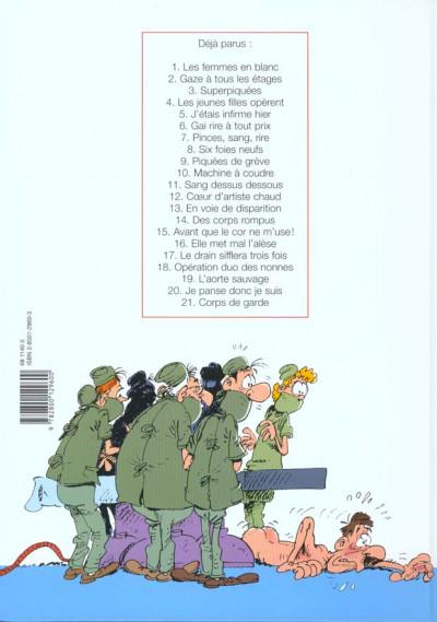 Dos les femmes en blanc tome 21 - corps de garde