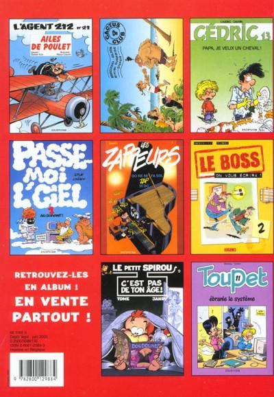 Dos Jeux et Gags Spirou - spécial été 2000