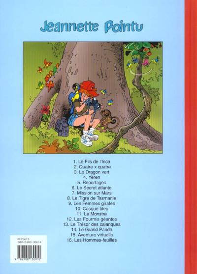 Dos Jeannette Pointu tome 16 - les hommes feuilles