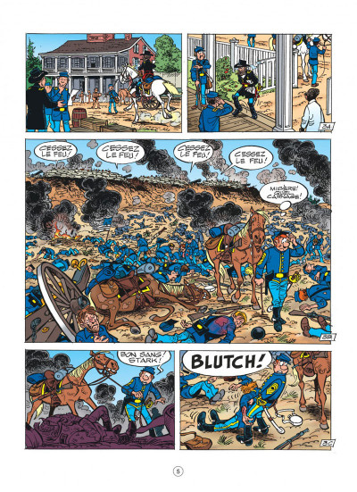 Page 5 les tuniques bleues tome 44 - l'oreille de lincoln