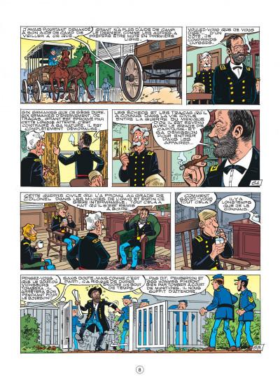 Page 8 les tuniques bleues tome 44 - l'oreille de lincoln