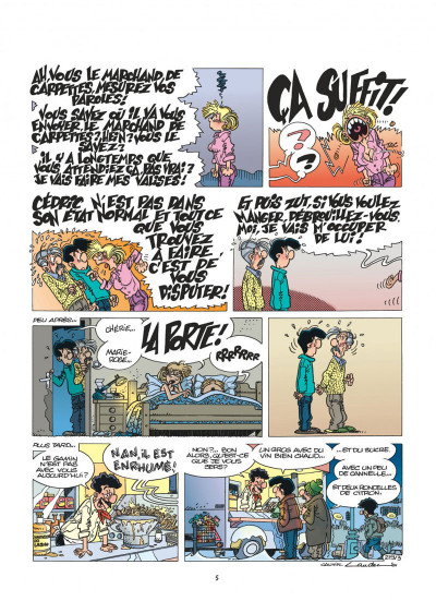Page 5 cédric tome 15 - avis de tempête