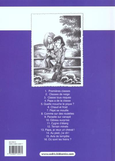 Dos cédric tome 16 - où sont les freins ?
