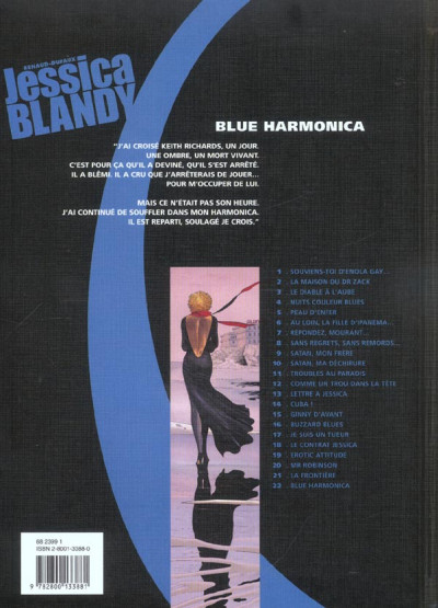 Dos Jessica Blandy tome 22 - blue harmonica
