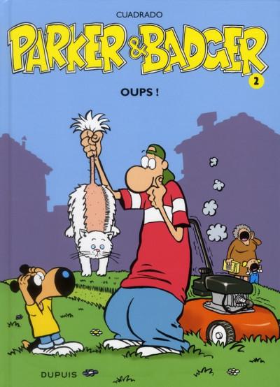Couverture parker & badger tome 2 - oups