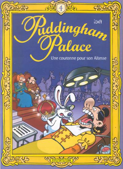 Couverture puddingham palace tome 4 - une couronne pour son altesse