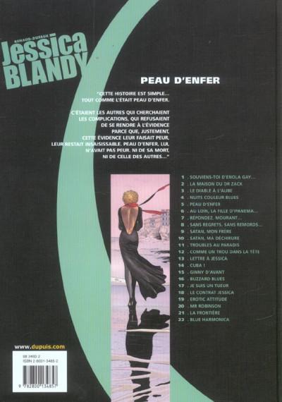 Dos Jessica Blandy tome 5 - peau d'enfer