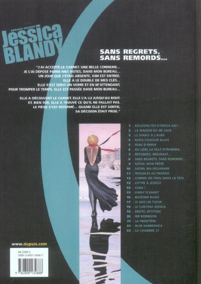 Dos Jessica blandy tome 8 - sans regrets, sans remords