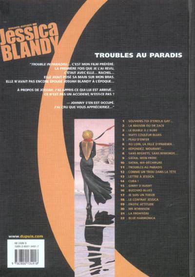 Dos Jessica Blandy tome 11 - troubles au paradis