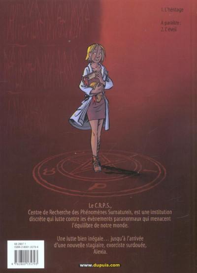 Dos les démons d'alexia tome 1 - l'héritage