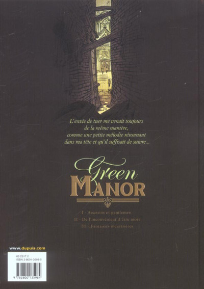 Dos green manor tome 3 - fantaisies meurtrières