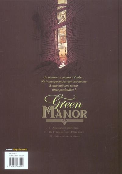 Dos green manor tome 2 - de l'inconvenient d'être mort