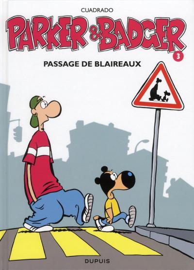 Couverture parker & badger tome 3 - passage de blaireaux