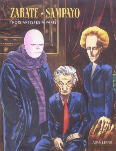 Couverture trois artistes à paris