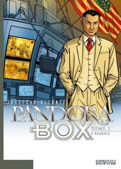 Couverture pandora box tome 5 - l'avarice