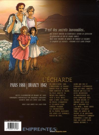 Dos secrets, l'écharde tome 2