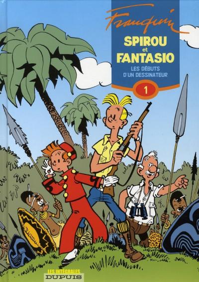Couverture spirou et fantasio - intégrale tome 1 - les débuts d'un dessinateur