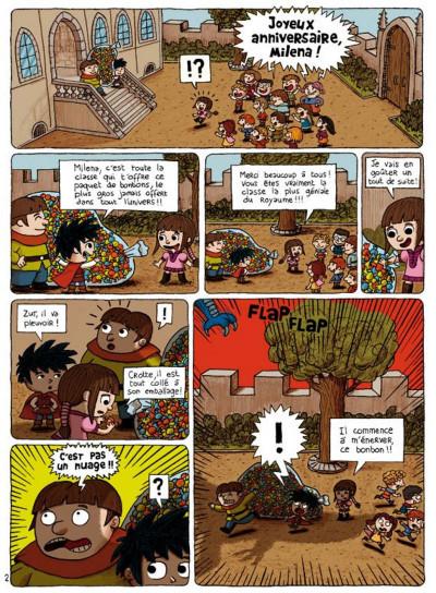 Page 2 prince gédéon tome 1 - trois chewing-gums pour sauver miléna