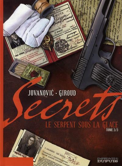 image de secrets, le serpent sous la glace tome 3