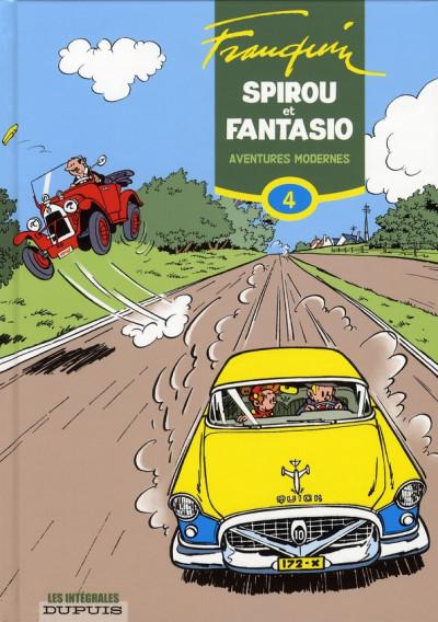 Couverture spirou et fantasio - intégrale tome 4 - aventures modernes (1954-1956)