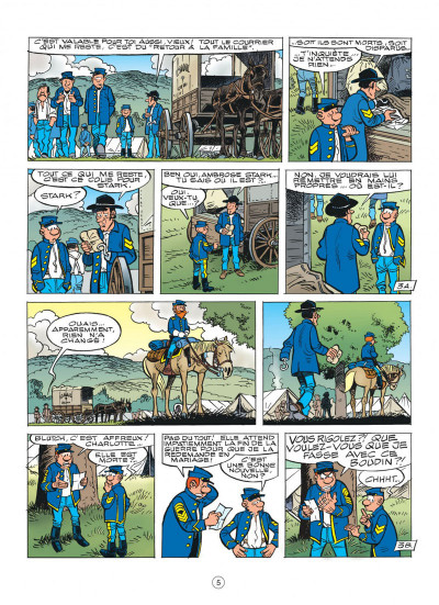 Page 5 les tuniques bleues tome 51 - stark sous toutes les coutures