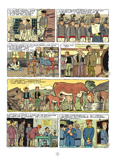 Page 8 les tuniques bleues tome 51 - stark sous toutes les coutures