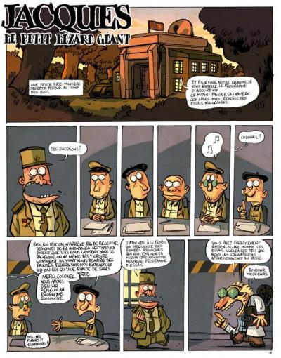 Page 1 jacques, le petit lézard géant tome 1