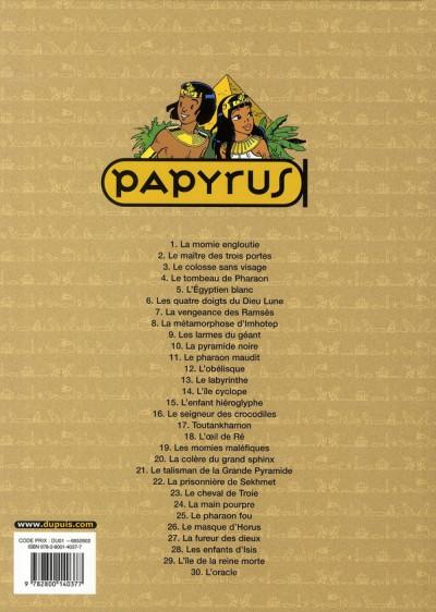 Dos papyrus tome 30 - l'oracle de thot