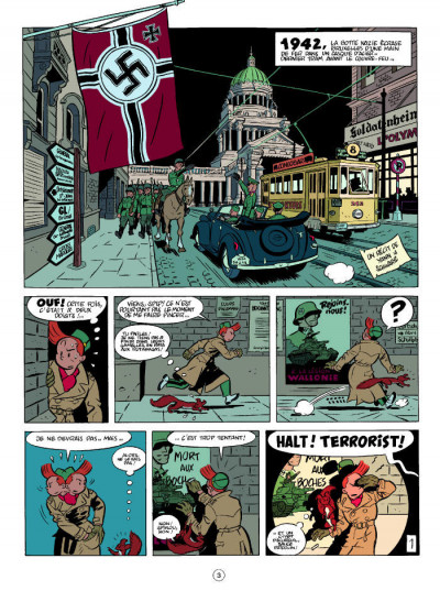 Page 1 Spirou et Fantasio  tome 5 - le groom vert-de-gris